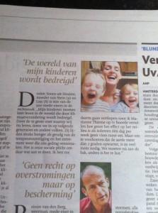 Limburgs Dagblad 14 april 2014 klimaatzaak